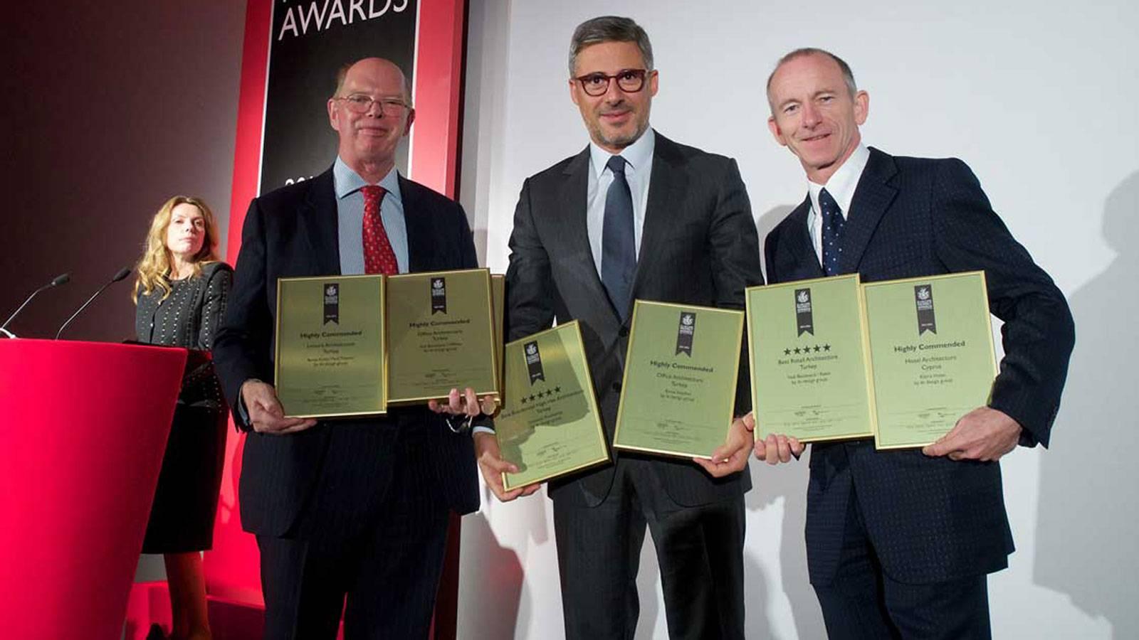 iki design group receives multiple awards from International Property Awards