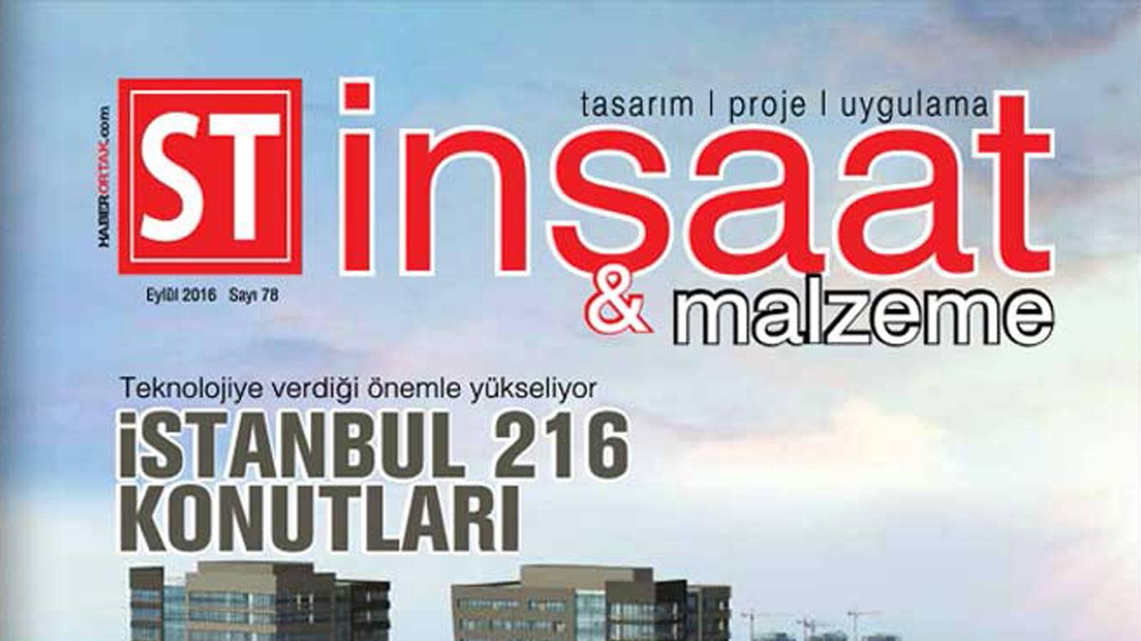 15.09.2016 S.T. İnşaat ve Malzeme Magazine host Murat Kader and Sema Eser Özsaruhan.