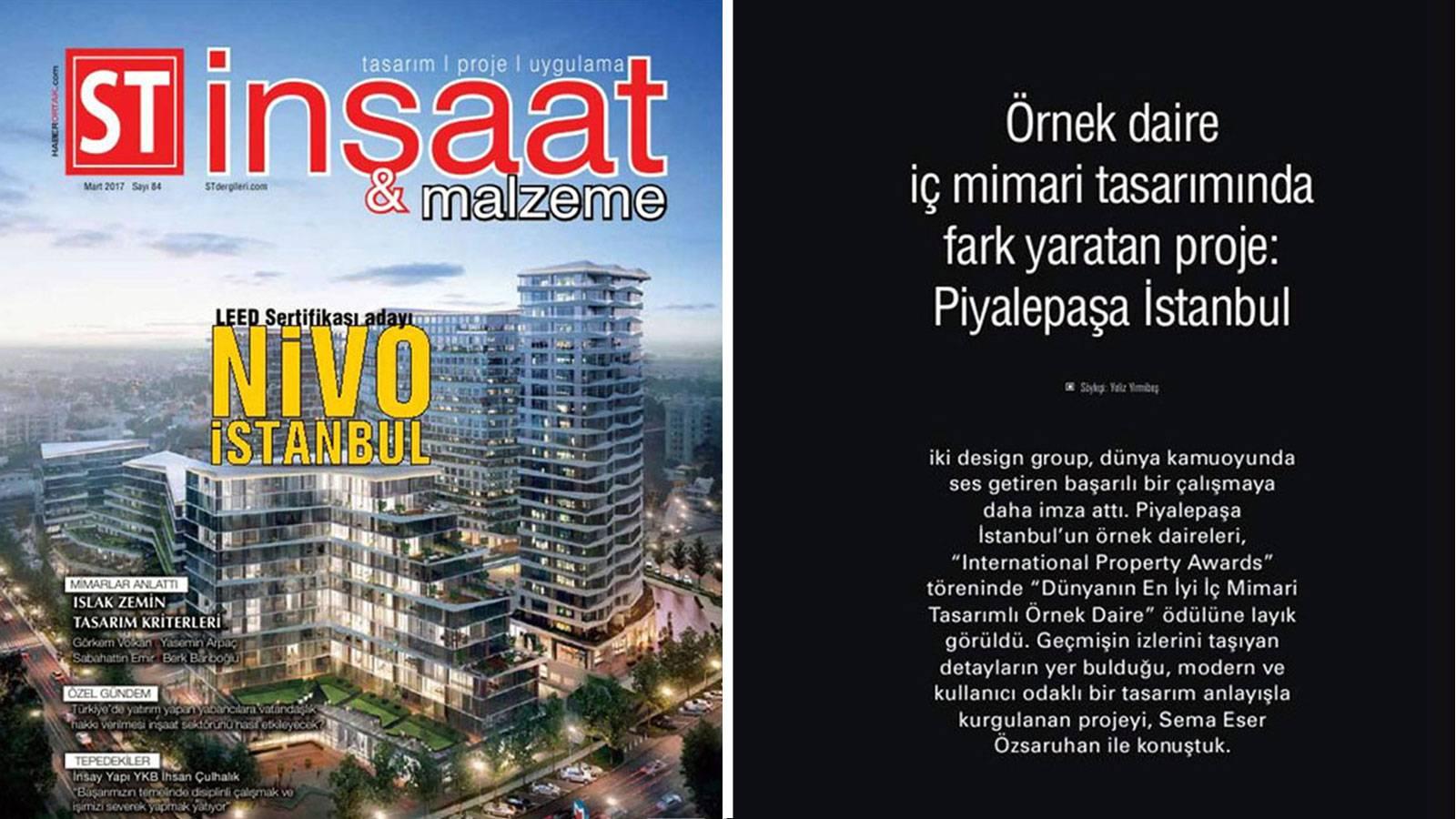 S.T. İnşaat ve Malzeme Magazine's March edition host Sema Eser Özsaruhan.