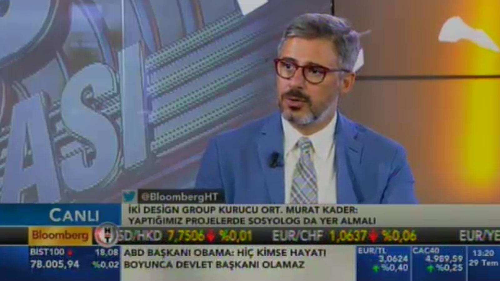 Murat Kader was guest of İş Dünyası on BloombergHT at noon schedule.