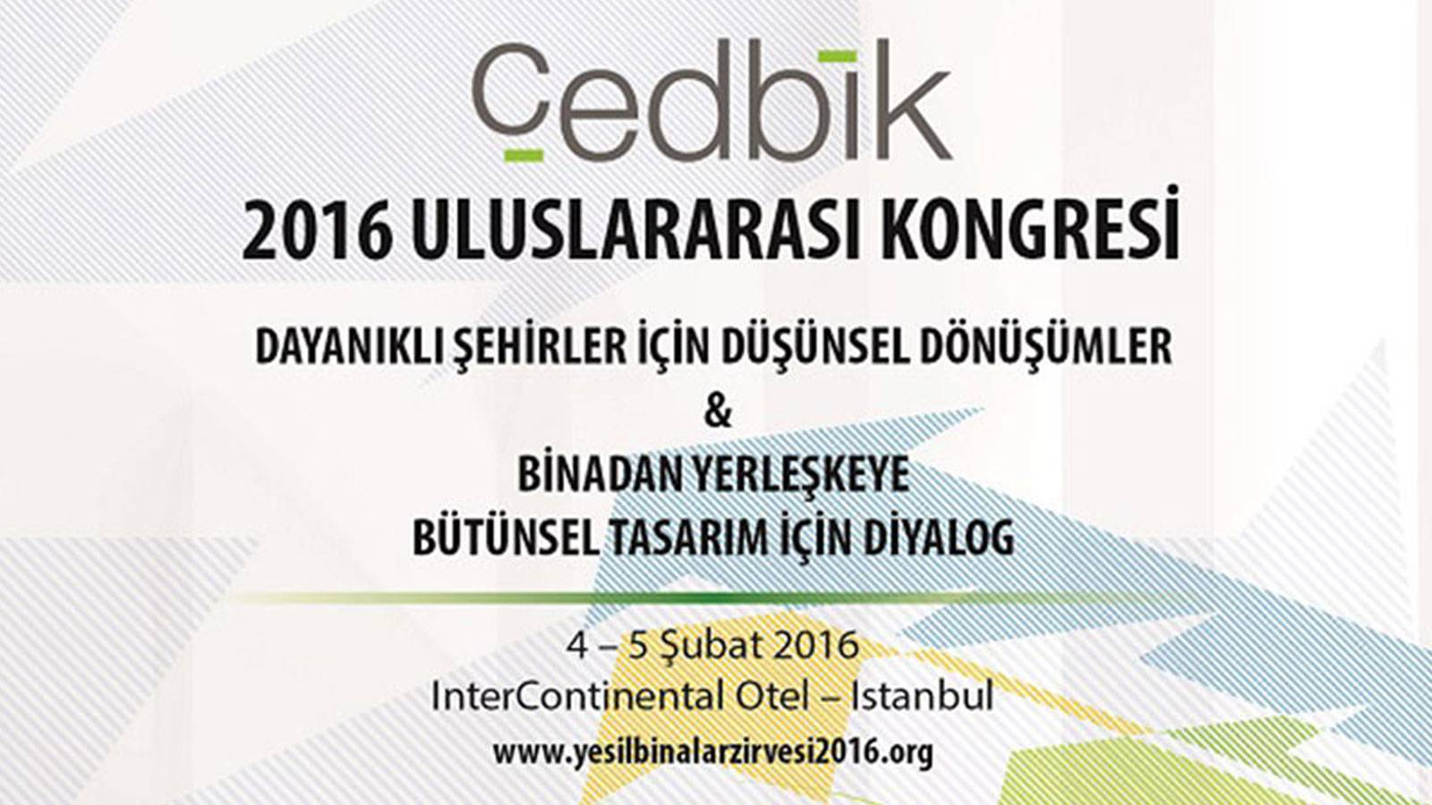 01.02.2016 Murat Kader will be attending to Green Buildings Summit on 4 and 5th of February