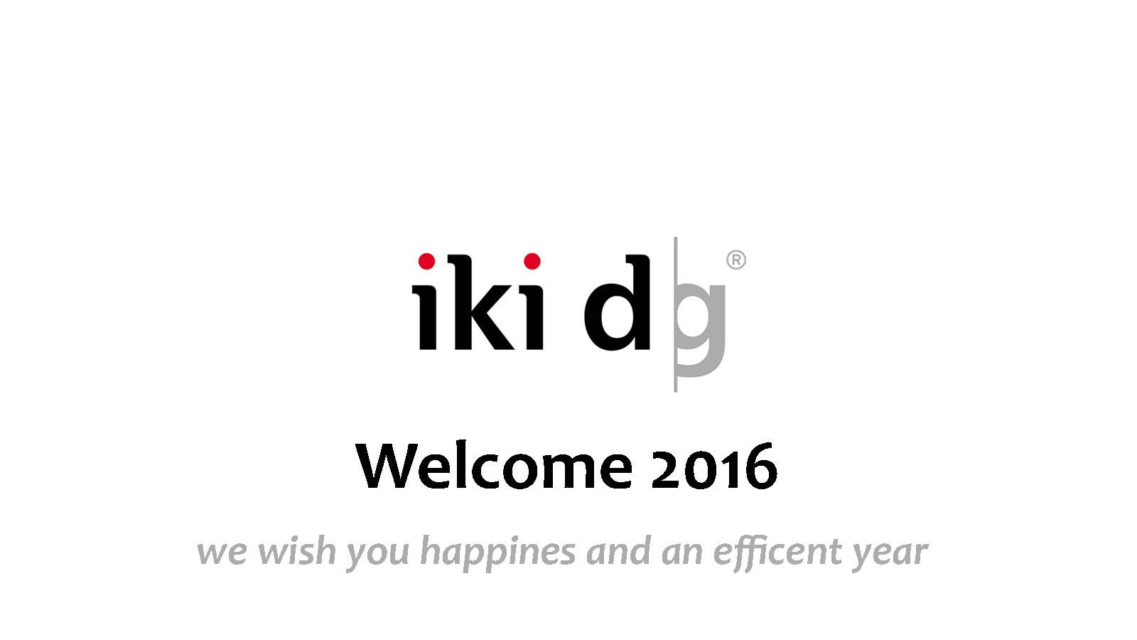 31.12.2015 NEW YEAR'S MESSAGE