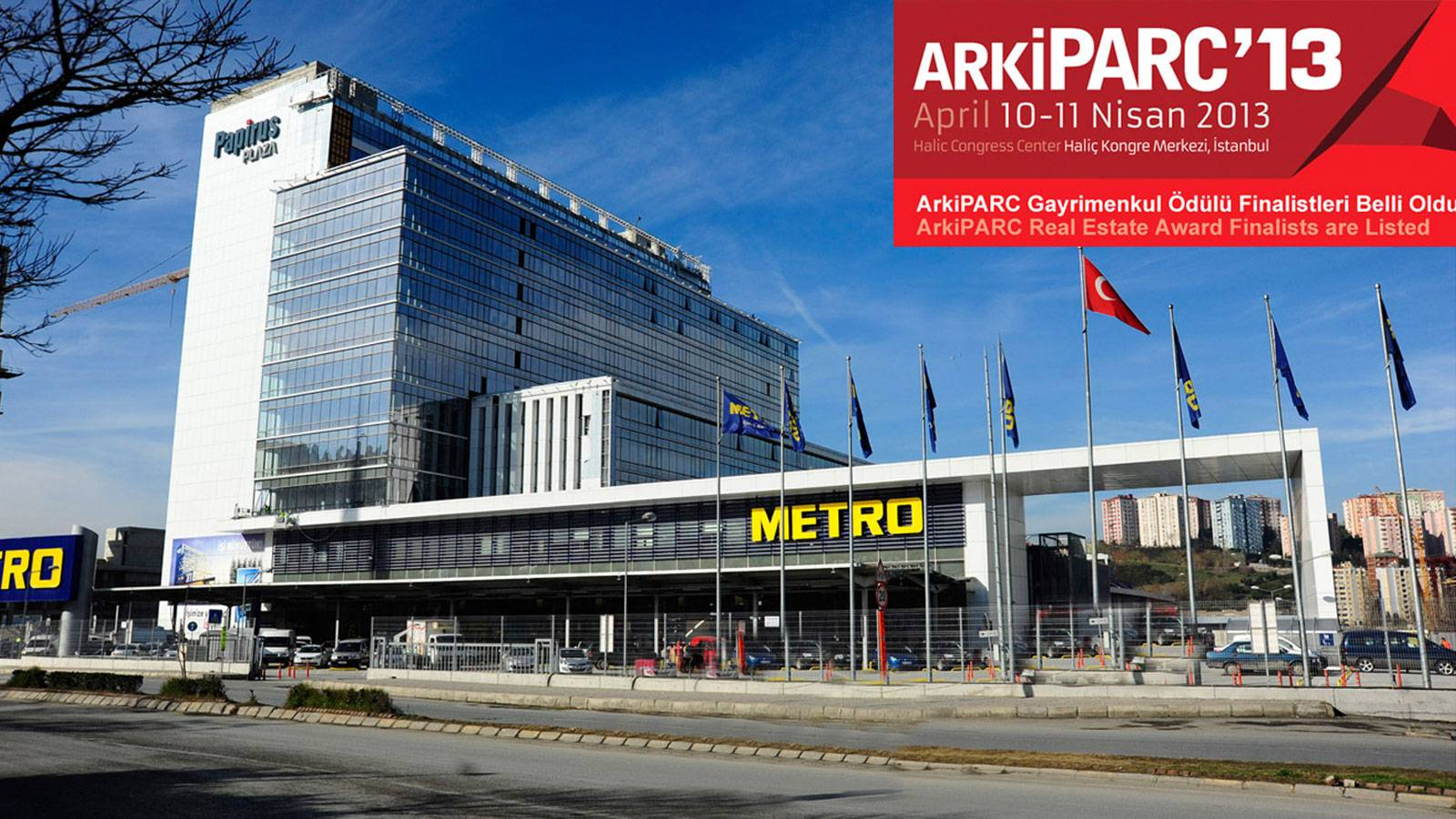 "05.03.2013 - Papirus Plaza has been nominated for ""best office"" in Arcipark Awards"